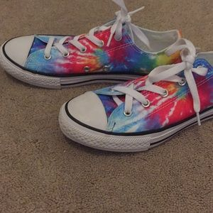 Youth size 3 brand new tie dye converse